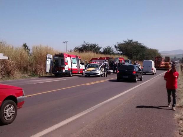 Ação ocorreu na rodovia que liga Mococa a Cajuru (Foto: Gabriel Delena/Arquivo pessoal)