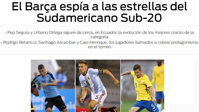 Caio Henrique no jornal Sport (Foto: Reprodução / Sport)