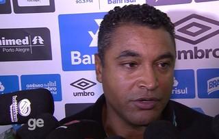 Roger Machado, técnico do Grêmio, em entrevista coletiva em Erechim (Foto: Reprodução / RBS TV)