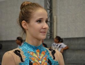 Beatriz disse que apresentações as deixam mais tranquilas (Foto: Felipe Martins/GLOBOESPORTE.COM)