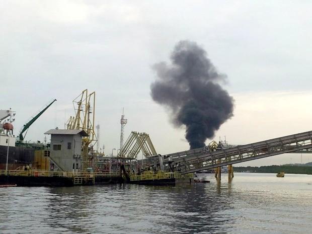 Explosão ocorreu em uma balsa (Foto: Arquivo Pessoal)