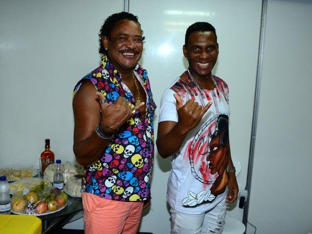 Compadre Washington e Beto Jamaica em show em Salvador, na Bahia (Foto: Webert Belicio/ Ag. News)