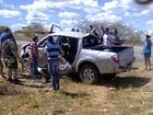 Três homens morrem após capotamento de caminhonete no RN