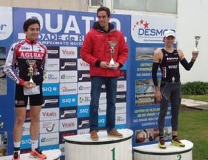 Bruno Matheus, triatleta de Santos, Portugal (Foto: Carlos Silva / Divulgação)