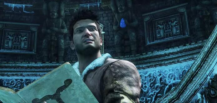 Nathan Drake volta com um visual melhorado no PS4 (Foto: Reprodução/YouTube)