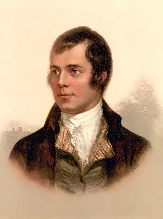 O poeta romântico escocês Robert Burns. (Foto:  Ann Ronan Picture Library)