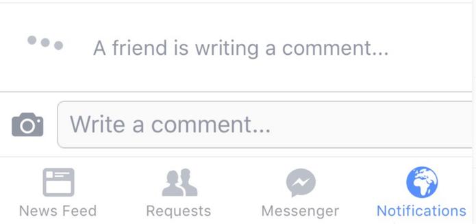 Facebook testa alerta de comentário em tempo real  (Foto: Reprodução/TheNextWeb)
