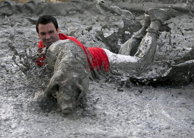 Competição ocorreu em festival em Sainte-Perpetue (Foto: Christinne Muschi/Reuters)