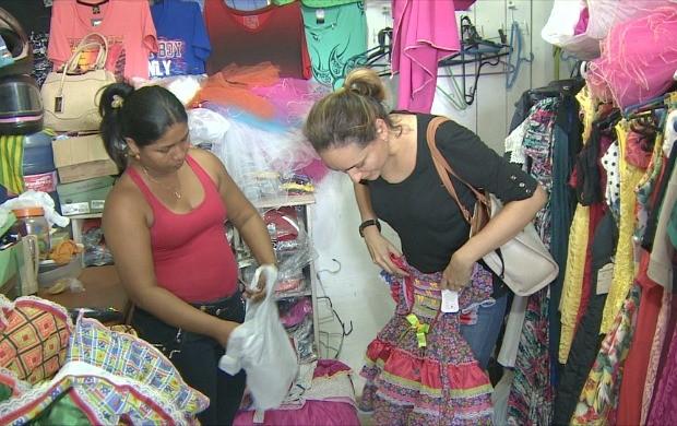 Festas juninas movimentam comércio em Porto Velho (Foto: Rondônia TV)