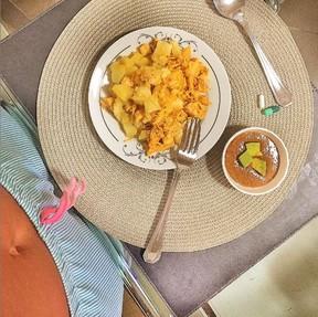 Café da manhã de Leticia Santiago (Foto: Reprodução/Instagram)