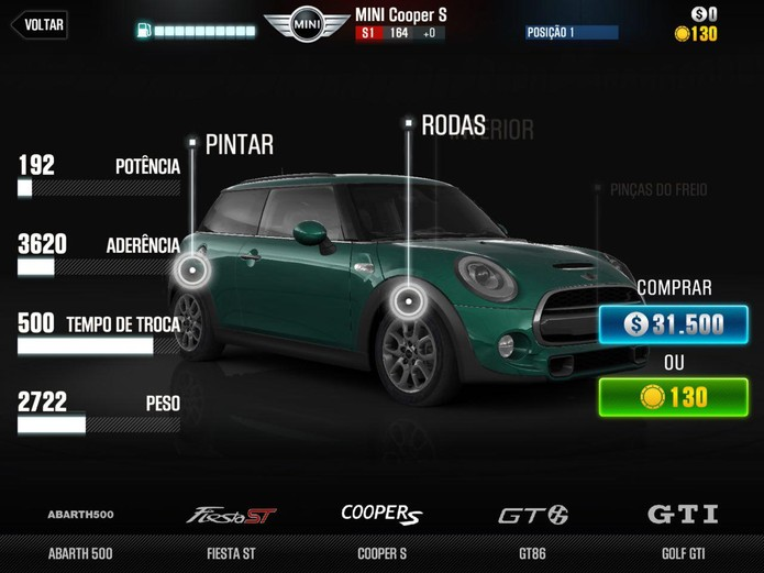 Qualquer um dos carros iniciais pode levá-lo à vitória (Reprodução: Cássio Barbosa)