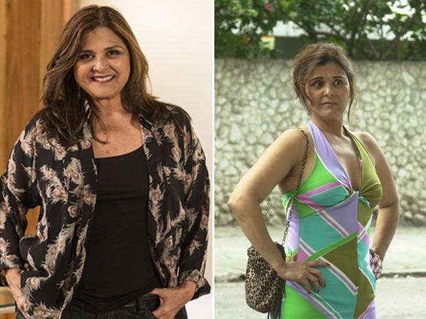 Elizângela na pede de Jurema (Império) e Djenane (Senhora do Destino) (Foto: TV Globo / Ellen Soares/ Gianne Carvalho)