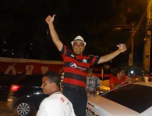 Wesley Souza, baiano que é torcedor do Flamengo e mora em Maceió (Foto: Denison Roma / Globoesporte.com)