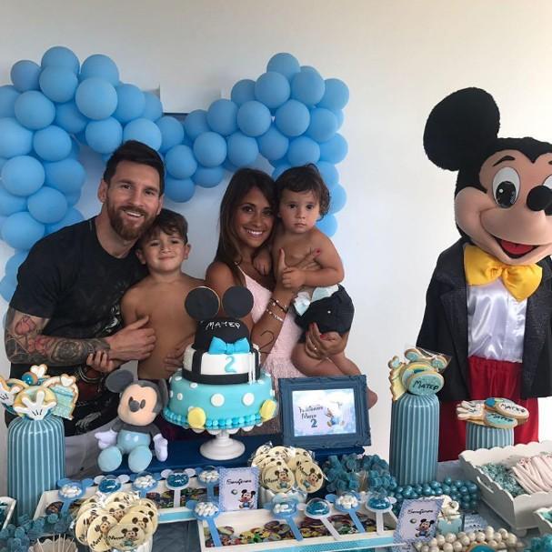 Messi comemora aniversário do filho (Foto: Instagram/Reprodução)