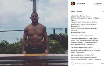 Escalado para lutar no UFC Fortaleza, Vitor Belfort exibe boa forma no Brasil