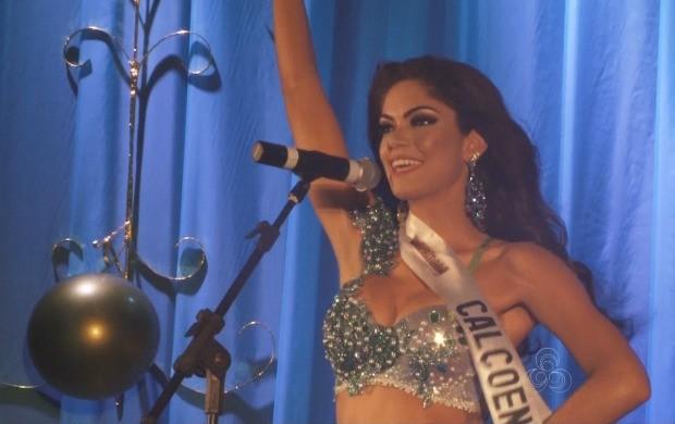 Daiane Uchôa representou o município de Calçoene no concurso (Foto: Amazônia Revista)