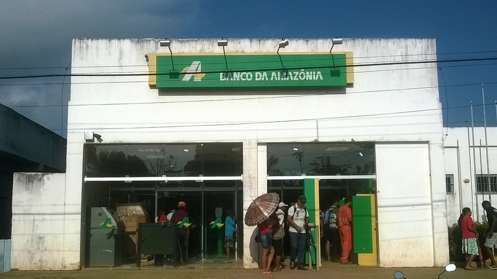 Agência do Banco da Amazônia em Placas, no oeste do Pará (Foto: Arquivo/G1)