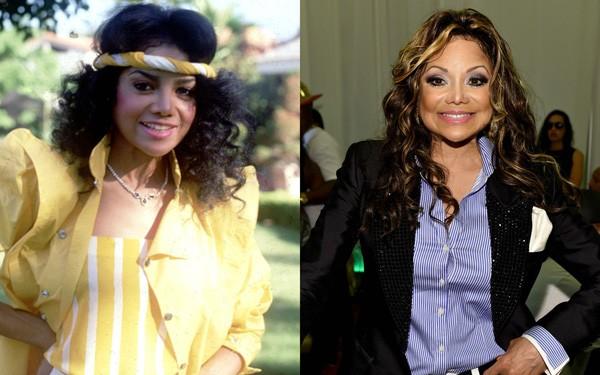 Latoya Jackson em 1984 e em 2014 (Foto: Reprodução / Getty Images)