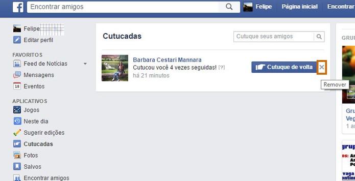 Exclua cutucadas no seu Facebook (Foto: Reprodução/Barbara Mannara)