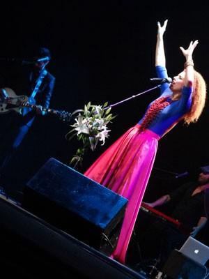 Vanessa da Mata cantou, agradou e foi o cenário do show (Foto: Vitor Tavares/G1)