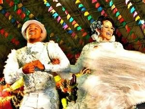 noiva de quadrilha (Foto: Rachel Sombra/Arquivo Pessoal)