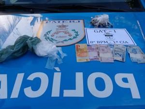 Material foi encaminhado para 134ª DP, onde a ocorrência foi registrada (Foto: Divulgação/Polícia Militar)
