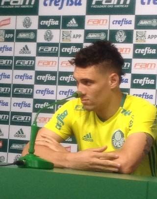Moisés Palmeiras coletiva (Foto: Rodrigo Faber)