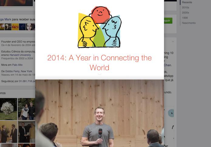 Mark Zuckerberg Lançou sua própria retrospectiva de fotos em seu perfil oficial do Facebook (Foto: Reprodução/Facebook)