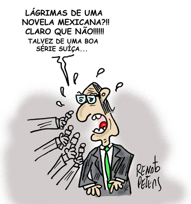 Charge: Chora Cunha (Foto: Renato Peters)