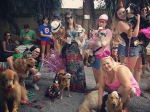Cadela se tornou atração em evento (Foto: Patrícia Alcolea/Arquivo pessoal)