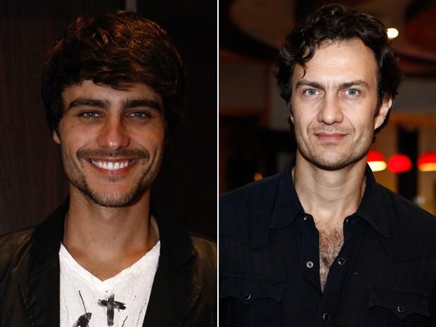 Guilherme Leicam e Gabriel Braga Nunes farão o mesmo personagem (Foto: Inácio Moraes / TV Globo)
