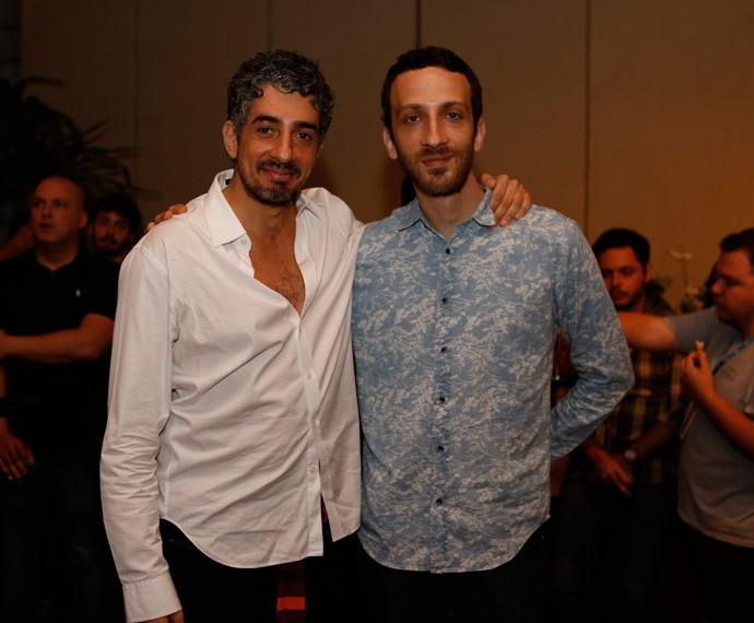 Michel Melamed e Saulo Arcoverde, os anjos de 'Além do Tempo' (Foto: Ellen Soares/Gshow)