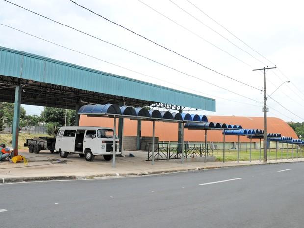 Durante a obra,  usuários terão que usar o terminal provisória feito pela Prefeitura (Foto: Divulgação/Prefeitura de Piracicaba)