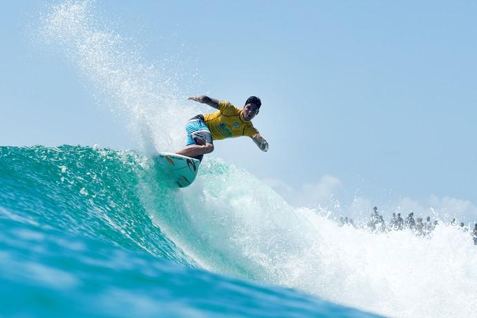 Gabriel Medina surfe mundial Gold Coast primeira fase (Foto: Kelly Cestari / WSL)