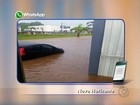 Vento forte e chuva de granizo causam estragos na região noroeste