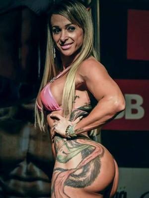 Geisa Vitorino, atleta bicampeã da IFBB Champion (Foto: Geisa Vitorino/Arquivo Pessoal)