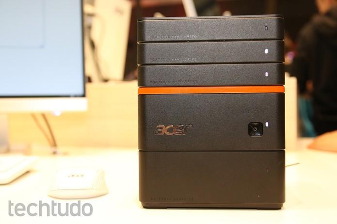 Acer Revo Build é um computador modular que foi apresentado no evento (Foto: Fabrício Vitorino/TechTudo)