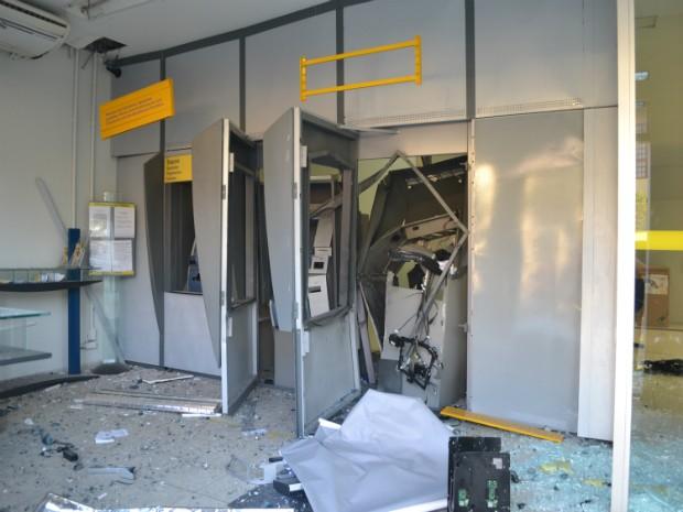 Criminosos invadiram agências bancárias em Conhas (SP) (Foto: Divulgação / Jornal Nosso Informativo)