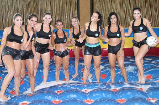 Candidatas a Musa do Goianão 2015 (Foto: TV Anhanguera)