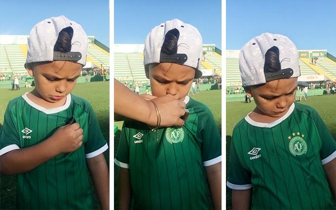 Crianca Torcedor da Chape (Foto: infoesporte)