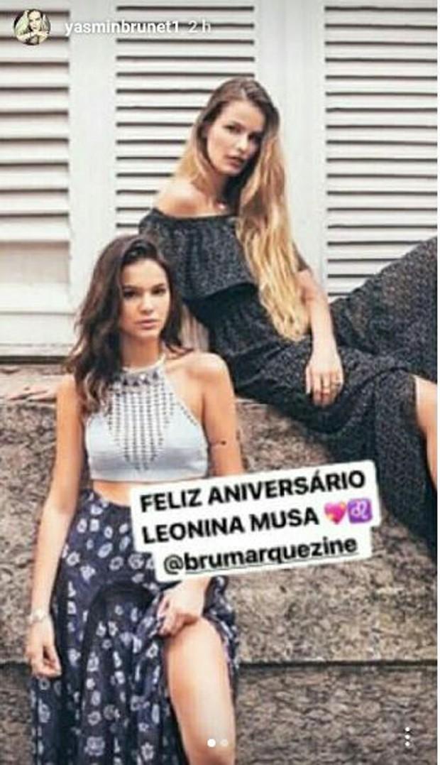 Bruna Marquezine e Yasmin Brunet  (Foto: Reprodução/Instagram)