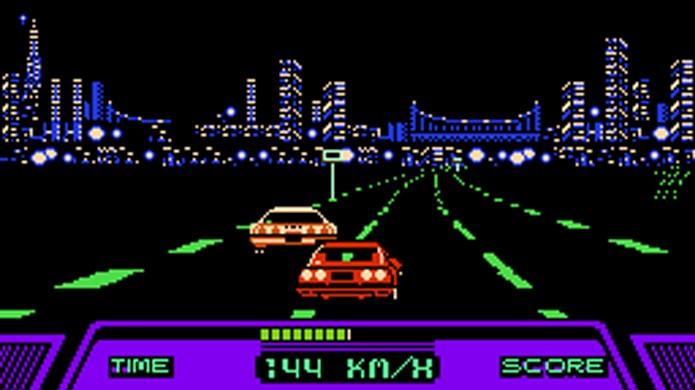 Semelhante a OutRun no visual, Rad Racer era bem diferente em conceito (Foto: Videogame Music Preservation Foundation Wiki)