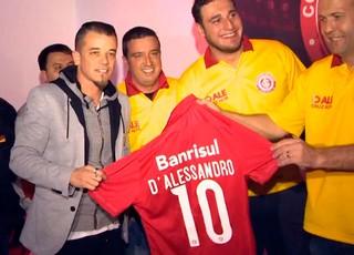 D'Alessandro Inter (Foto: Reprodução/RBS TV)