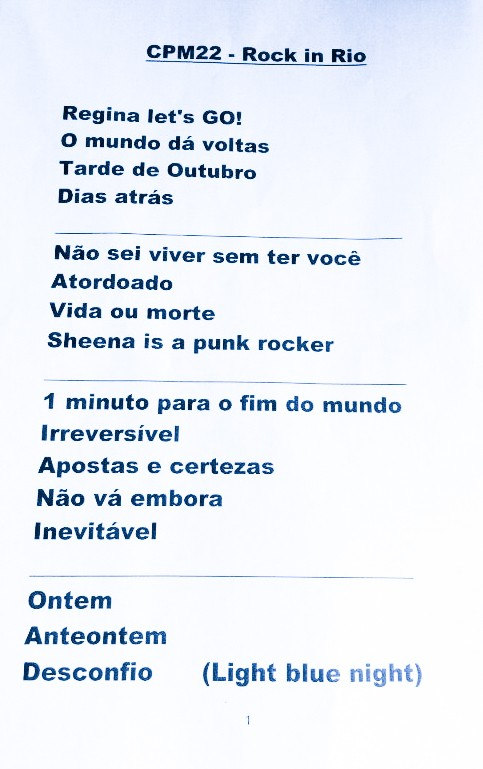 Setlist Rock in Rio 2015 (Foto: Multishow)