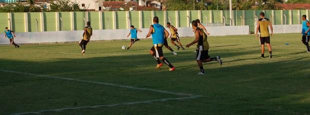 Treino do Botafogo-PB em Pilar (Foto: Lucas Barros / Globoesporte.com/pb)