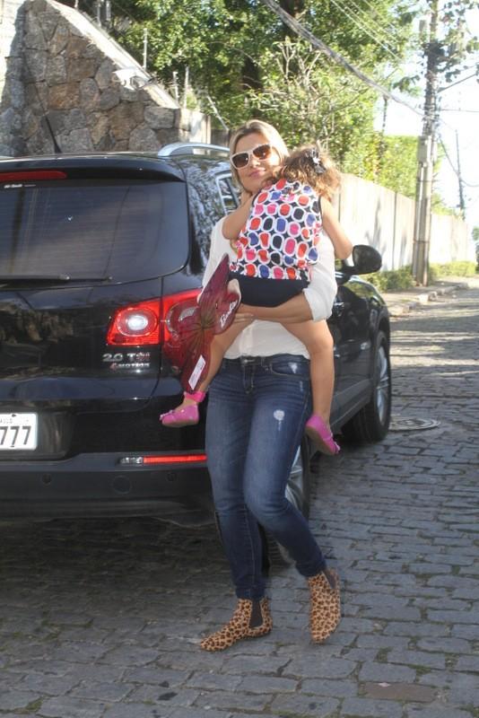 Flavia Alessandra no aniversario de Eva, filha de Angelica e Luciano Huck (Foto: Fabio Martins / Fotorio News)