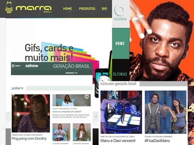 Sites como o Marra Brasil e o Regenera fazem bonito em Geração Brasil e na web (Foto: Geração Brasil / TV Globo)