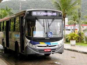 Aumento na tarifa de ônibus em Guarujá, SP (Foto: Marcos Miguel França/Prefeitura de Guarujá)