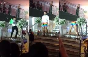 Michael Dantas durante performance em festa de formatura no RN (Foto: Reprodução / Facebook)