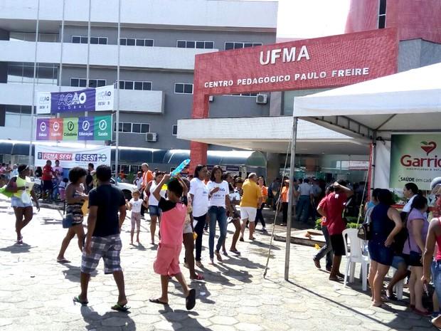 Cidade Universitária da UFMA é palco da 23ª Ação Global em São Luís (MA) (Foto: Reprodução/TV Mirante)